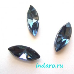 Swarovski Navette 4228, 15*7мм, DenimBlue